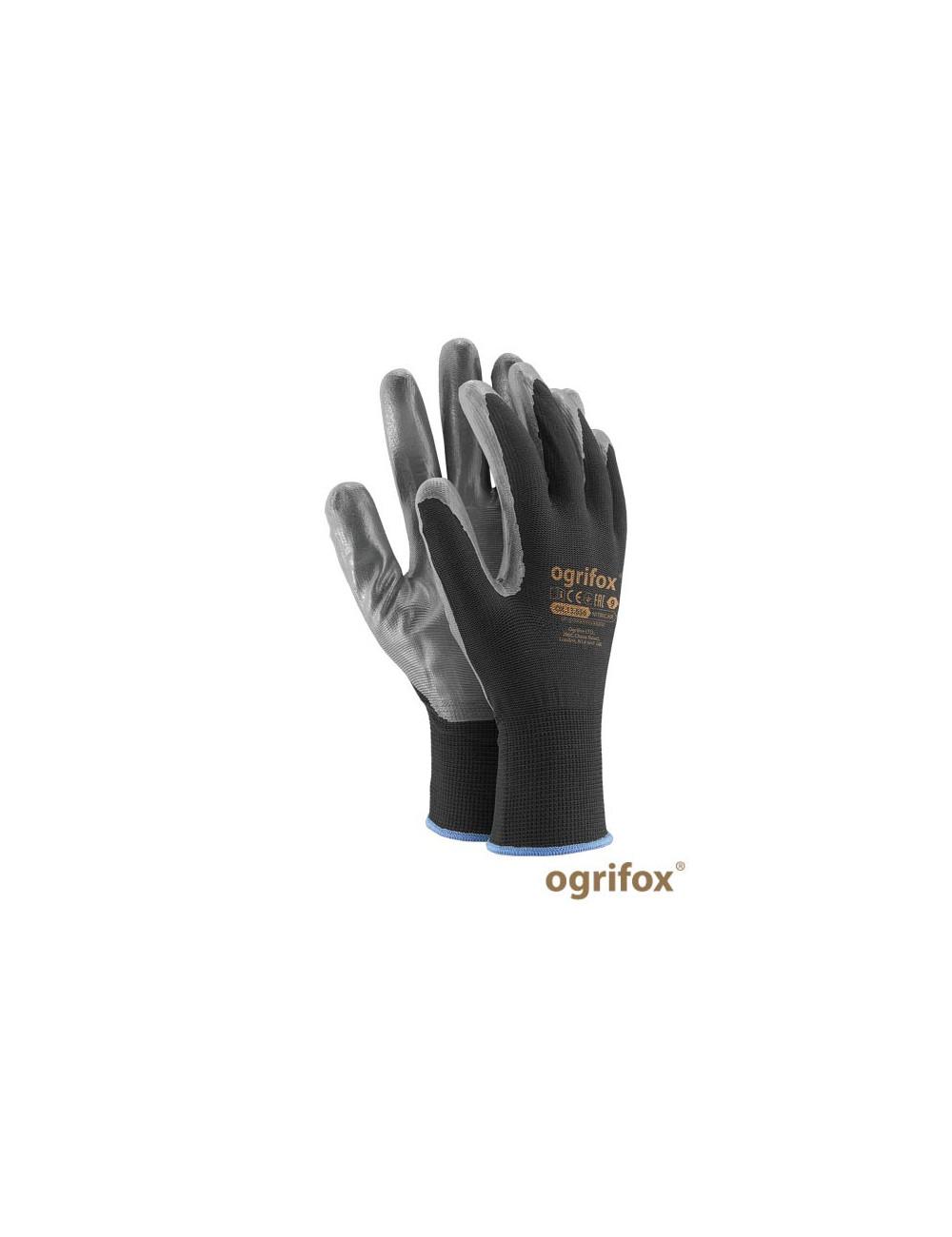OGRIFOX RĘKAWICE OCHRONNE OX.13.656 NITRICAR OX-NITRICAR BS CZARNO-SZARY