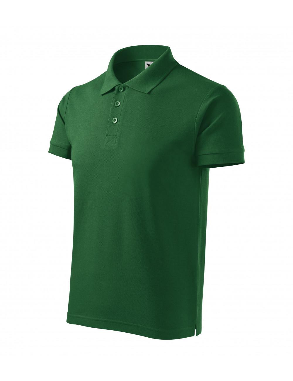 Adler MALFINI Koszulka polo męska Cotton Heavy 215 zieleń butelkowa