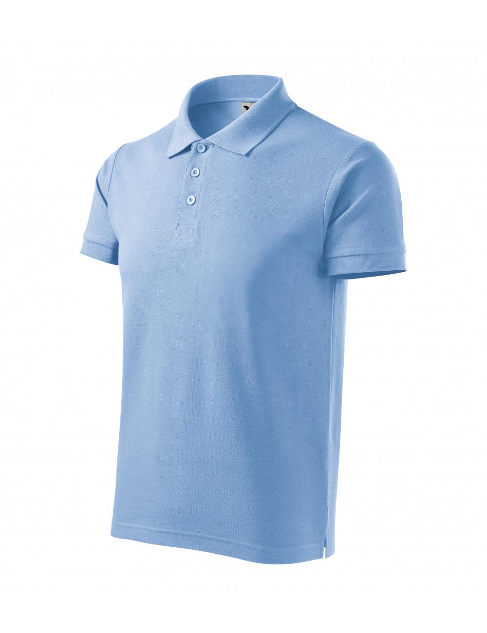 Adler MALFINI Koszulka polo męska Cotton Heavy 215 błękitny