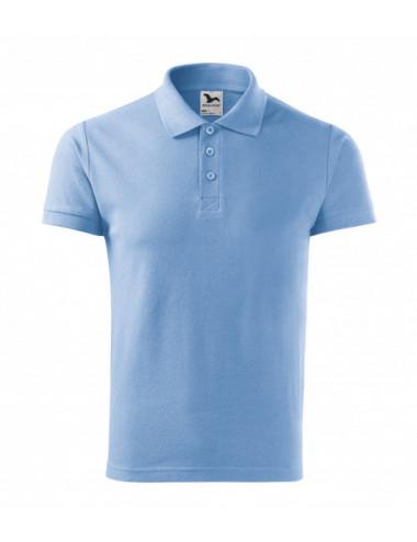 2Adler MALFINI Koszulka polo męska Cotton Heavy 215 błękitny