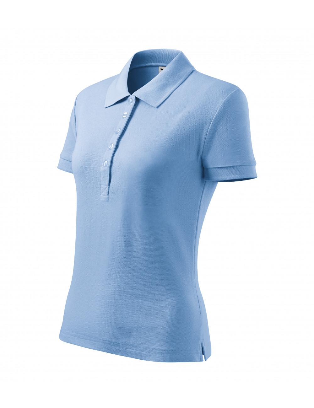 Adler MALFINI Koszulka polo damska Cotton Heavy 216 błękitny