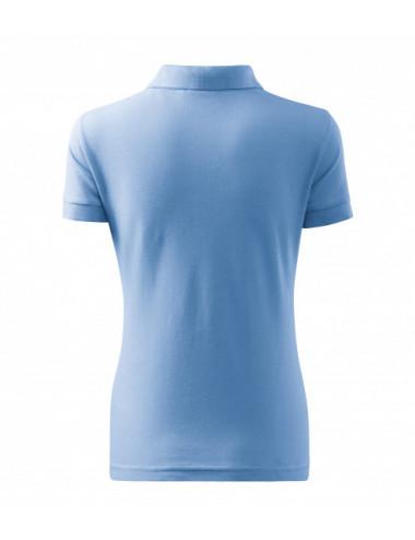 2Adler MALFINI Koszulka polo damska Cotton Heavy 216 błękitny