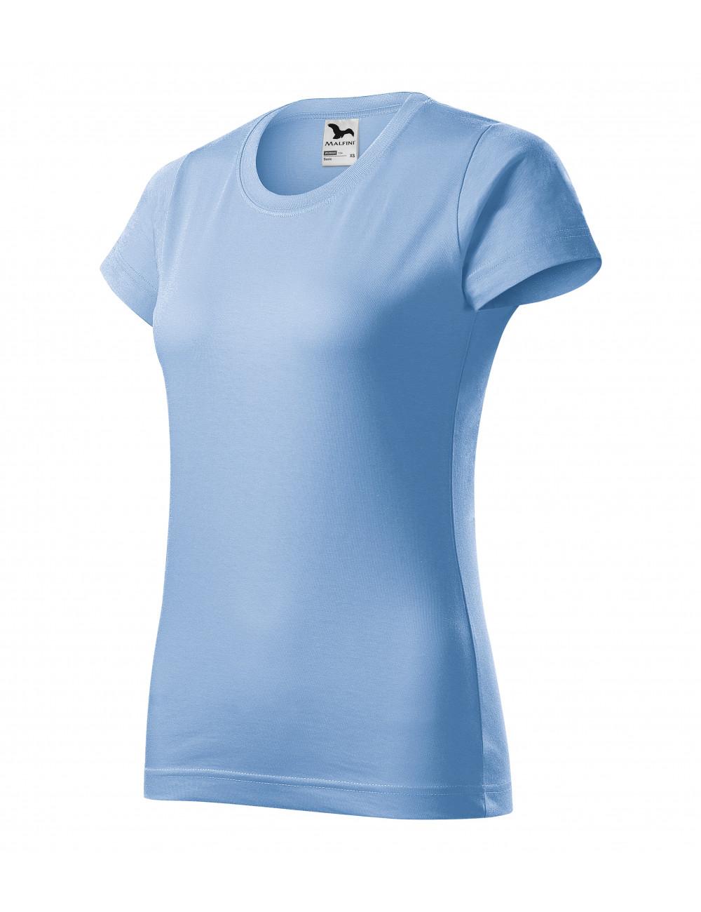 Adler MALFINI Koszulka damska Basic 134 błękitny