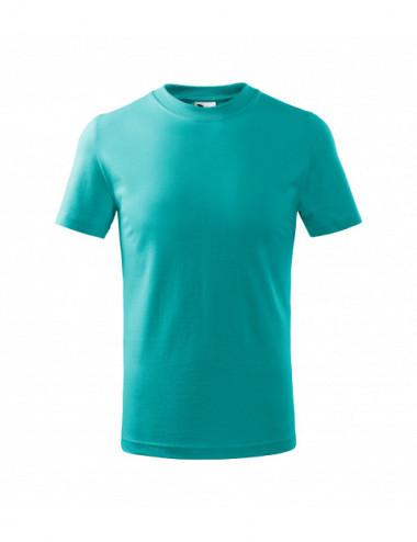 2Adler MALFINI Koszulka dziecięca Basic 138 szmaragdowy