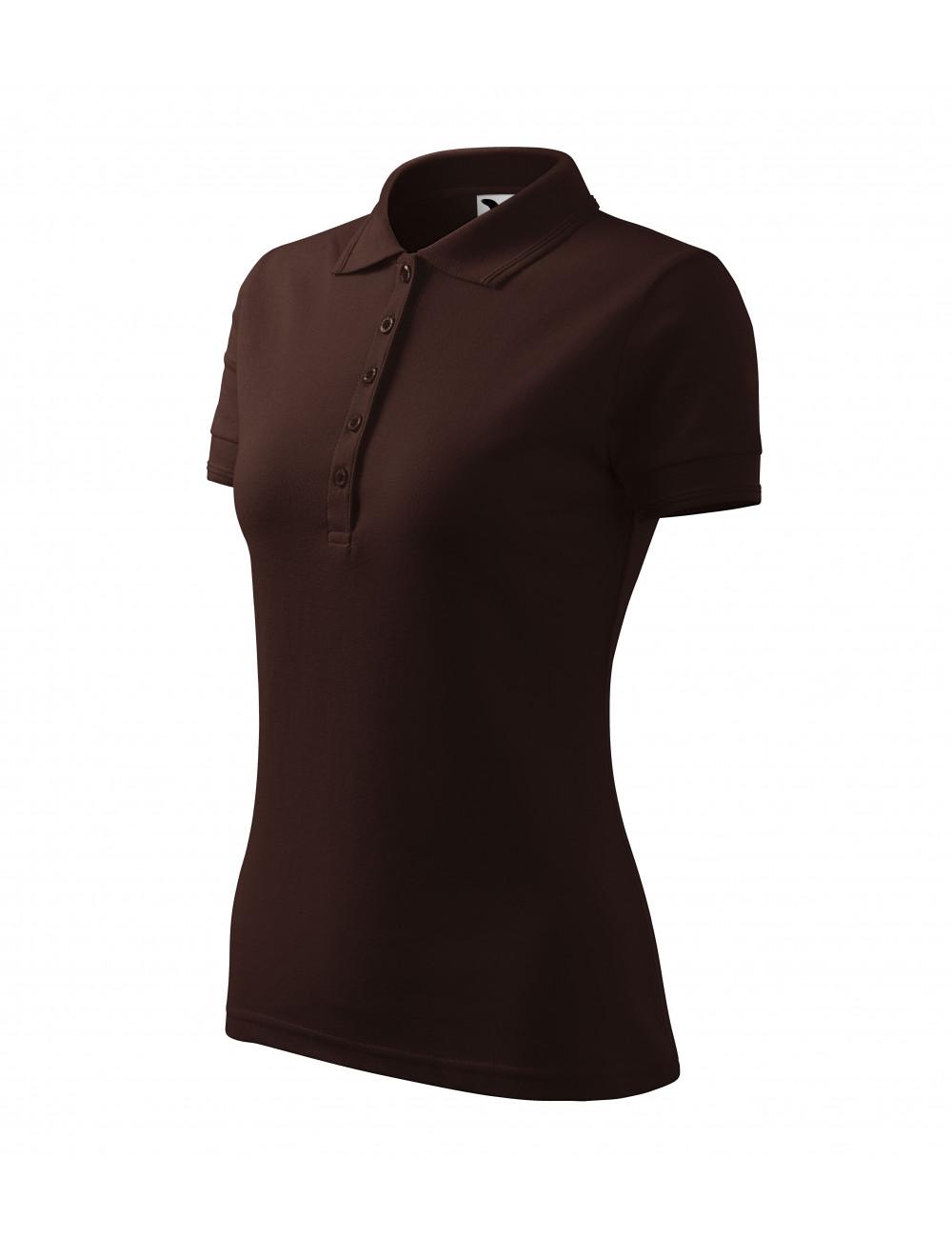 Adler MALFINI Koszulka polo damska Pique Polo 210 kawowy