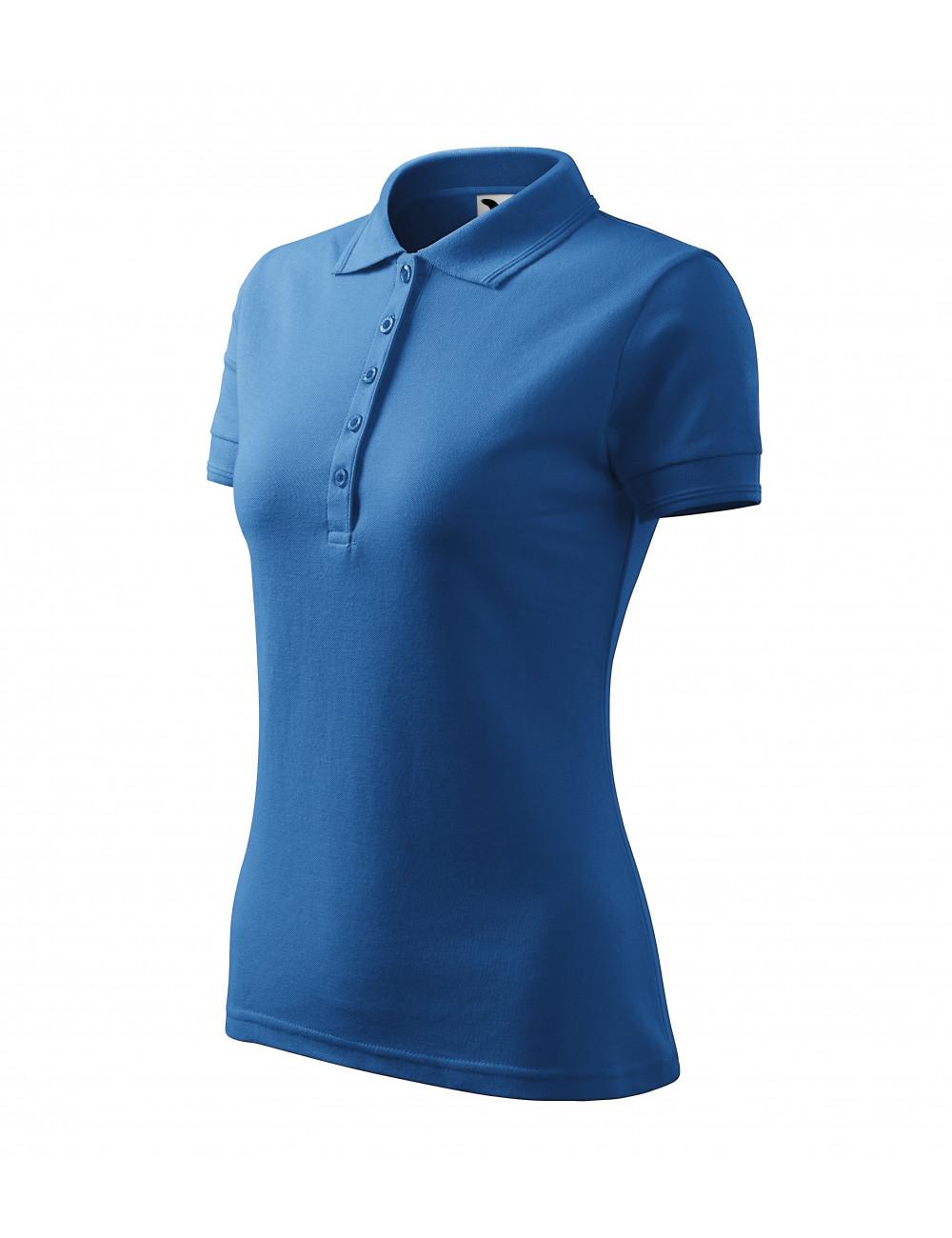 Adler MALFINI Koszulka polo damska Pique Polo 210 lazurowy