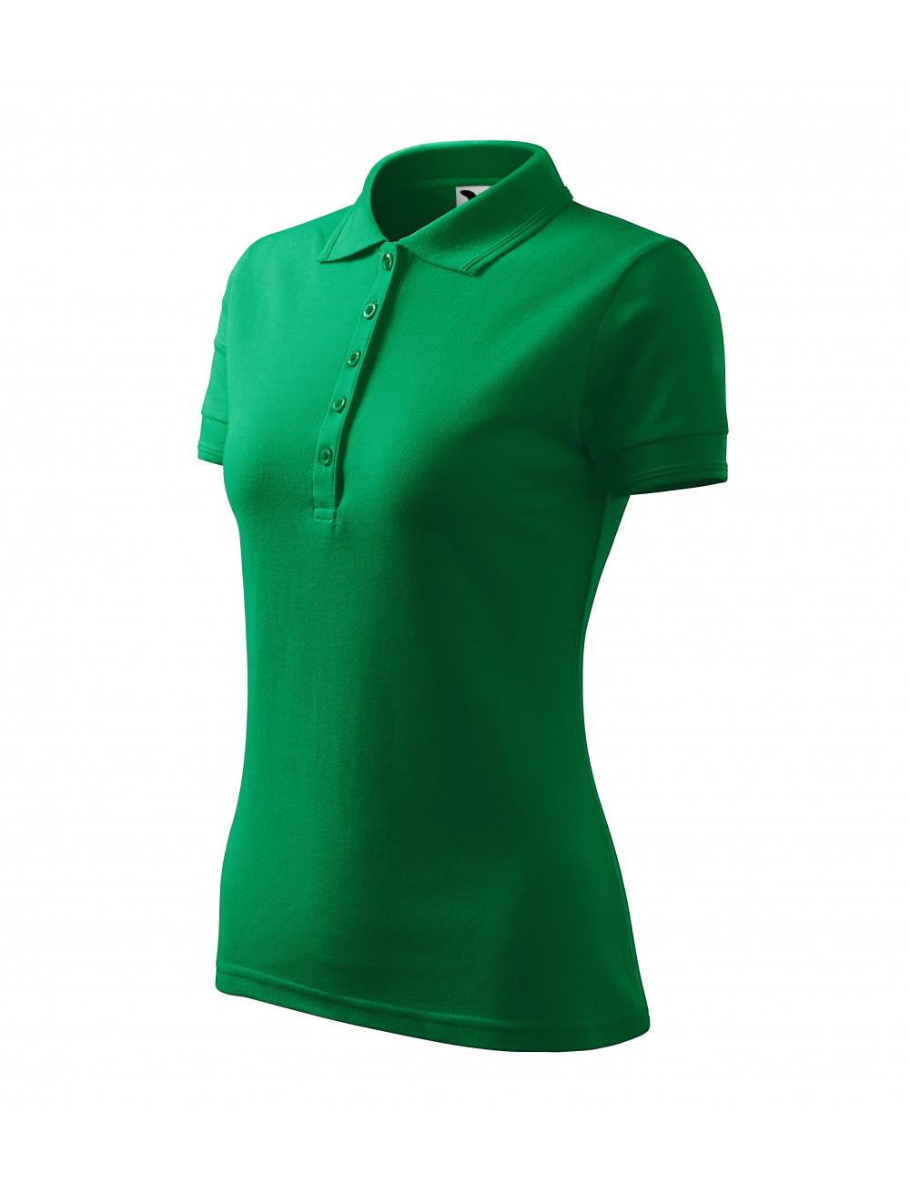 Adler MALFINI Koszulka polo damska Pique Polo 210 zieleń trawy