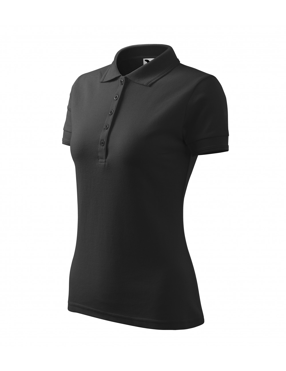 Adler MALFINI Koszulka polo damska Pique Polo 210 antracytowy melanż