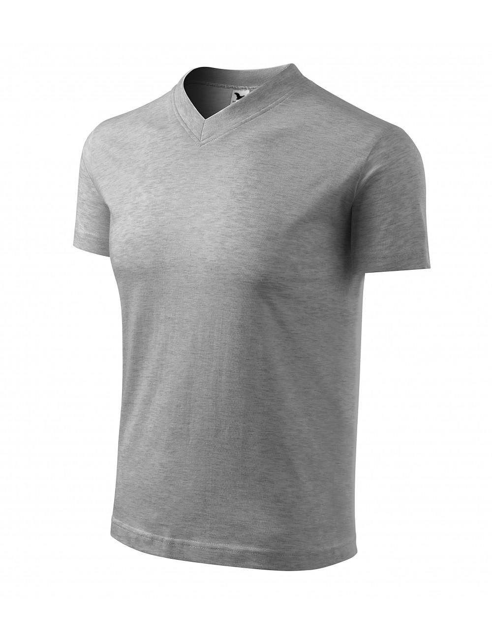 Adler MALFINI Koszulka unisex V-neck 102 ciemnoszary melanż