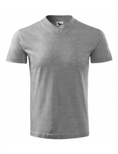 2Adler MALFINI Koszulka unisex V-neck 102 ciemnoszary melanż