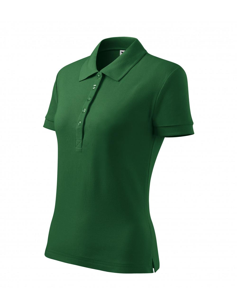 Adler MALFINI Koszulka polo damska Cotton Heavy 216 zieleń butelkowa