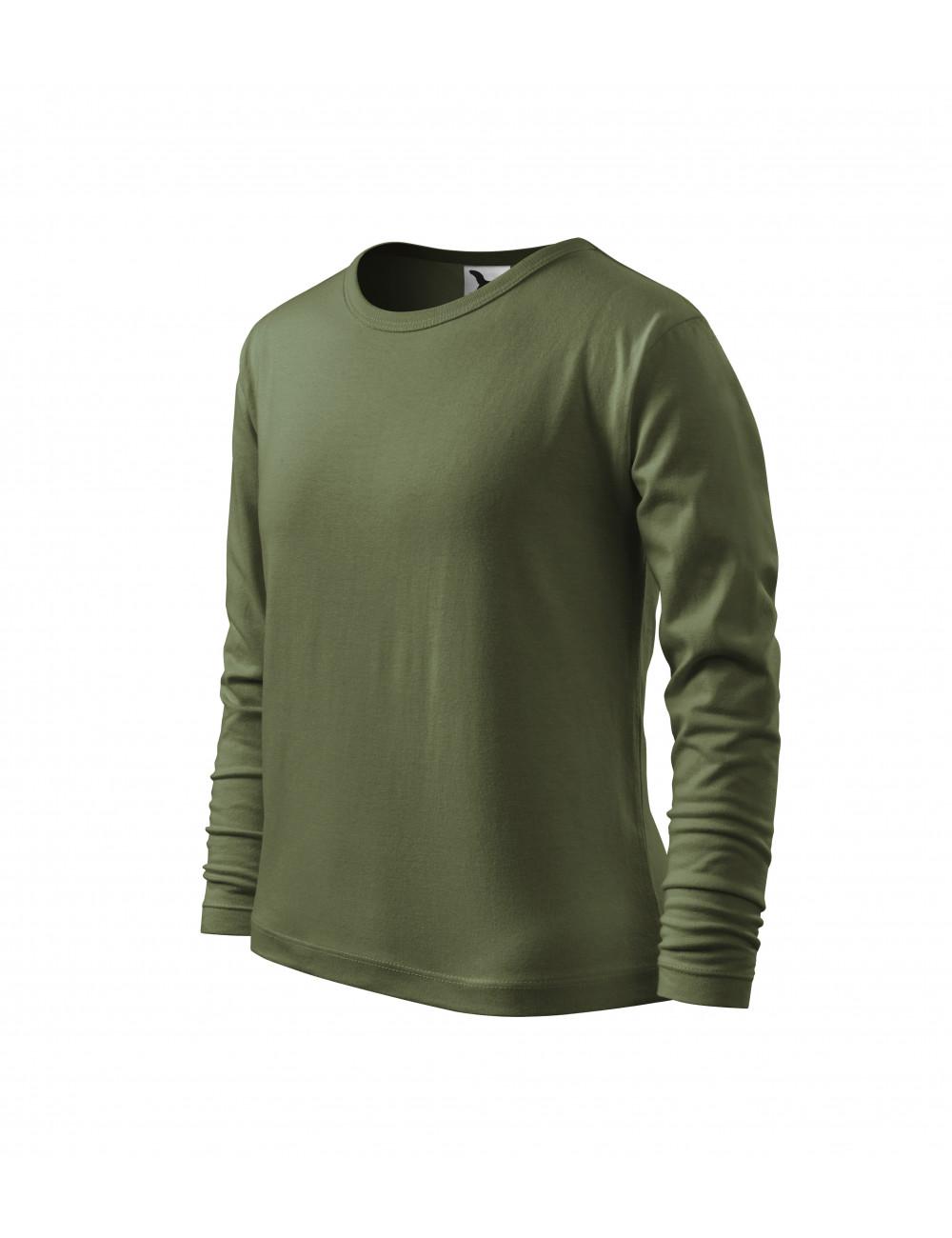 Adler MALFINI Koszulka dziecięca Fit-T LS 121 khaki