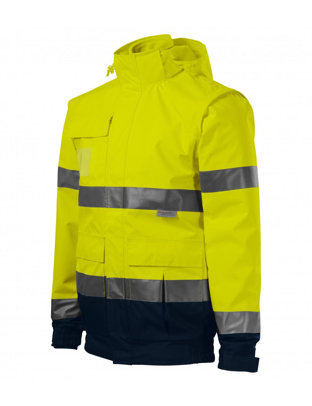 Adler RIMECK Kurtka unisex HV Guard 4 in 1 5V2 fluorescencyjny żółty