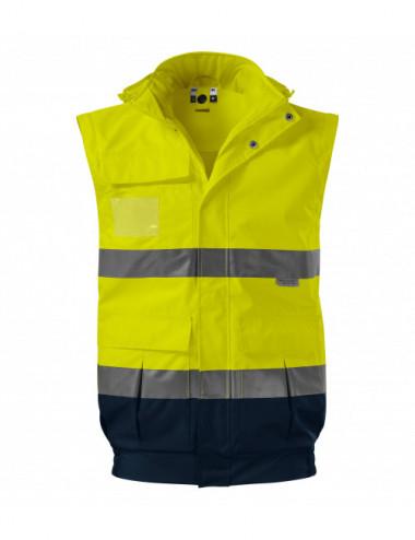 2Adler RIMECK Kurtka unisex HV Guard 4 in 1 5V2 fluorescencyjny żółty