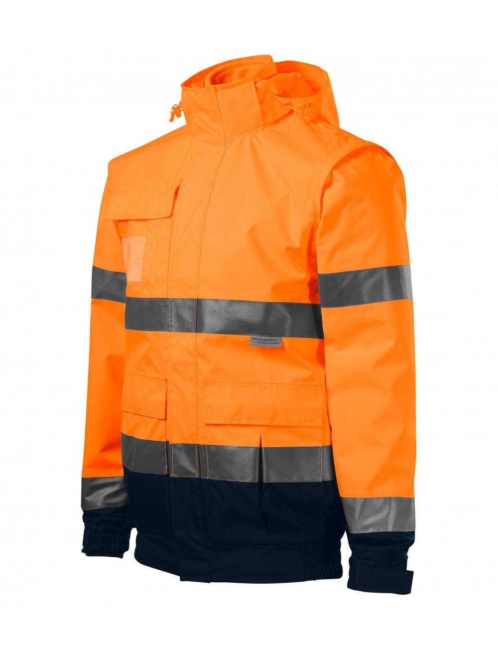Adler RIMECK Kurtka unisex HV Guard 4 in 1 5V2 fluorescencyjny pomarańczowy