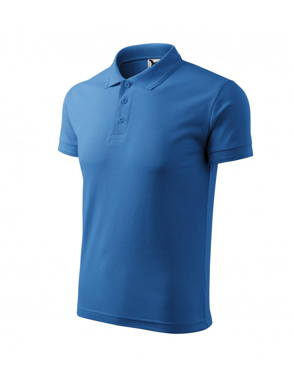 Adler MALFINI Koszulka polo męska Pique Polo 203 lazurowy