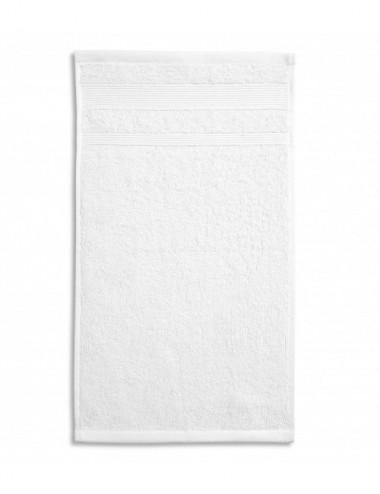 2Adler MALFINI Ręcznik mały unisex Organic 916 biały