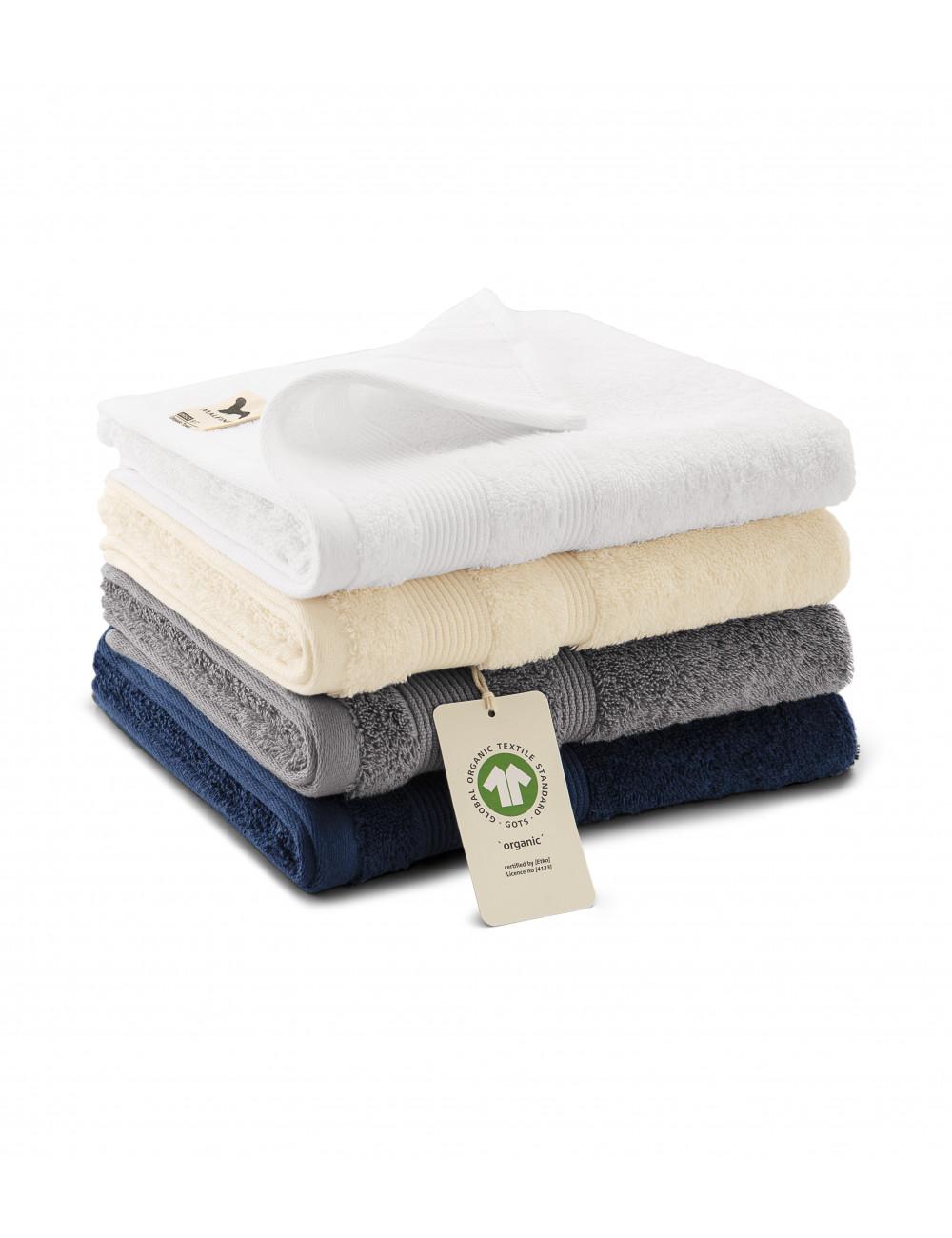 Adler MALFINI Ręcznik unisex Organic 917 migdałowy
