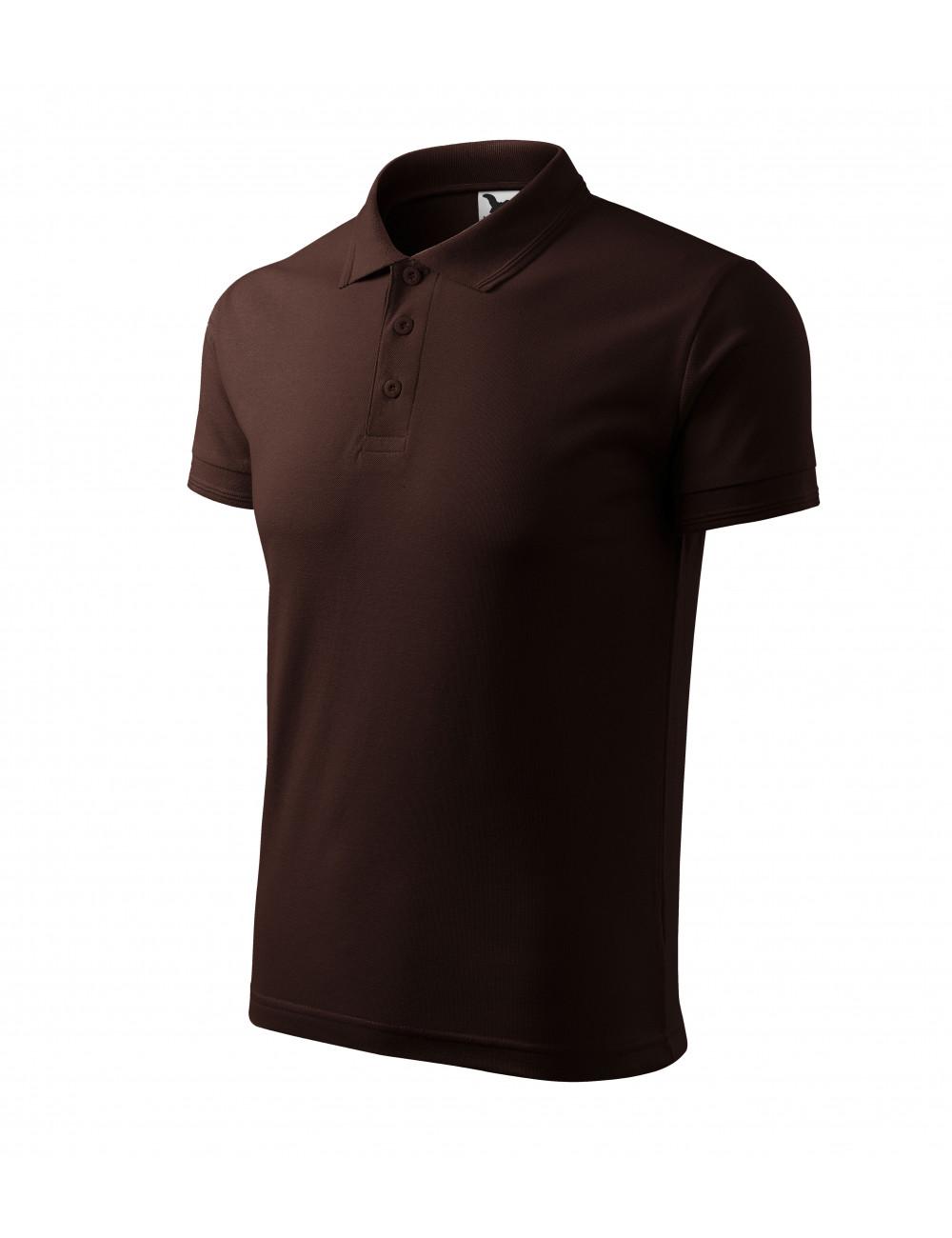 Adler MALFINI Koszulka polo męska Pique Polo 203 kawowy