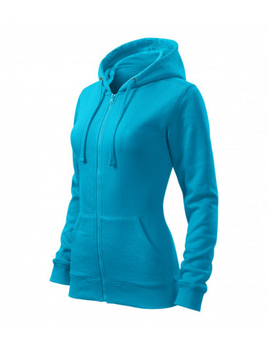 2Adler MALFINI Bluza damska Trendy Zipper 411 turkus