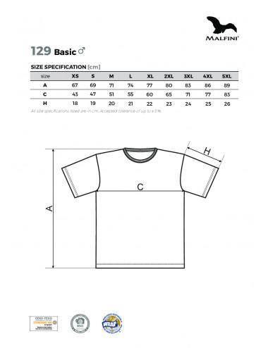 2Adler MALFINI Koszulka męska Basic 129 jasnoszary melanż