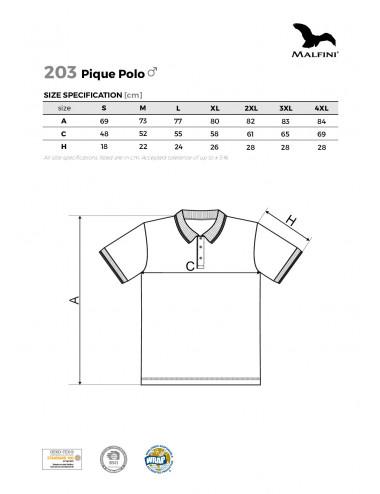 2Adler MALFINI Koszulka polo męska Pique Polo 203 ciemnoszary melanż