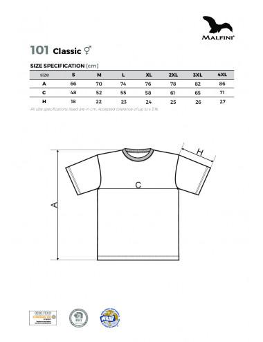 2Adler MALFINI Koszulka unisex Classic 101 biały