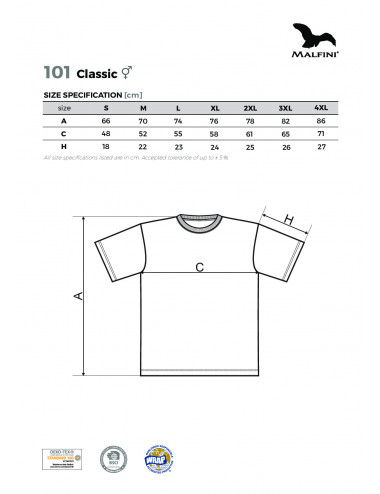 2Adler MALFINI Koszulka unisex Classic 101 pomarańczowy