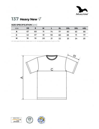 2Adler MALFINI Koszulka unisex Heavy New 137 czerwień purpurowa