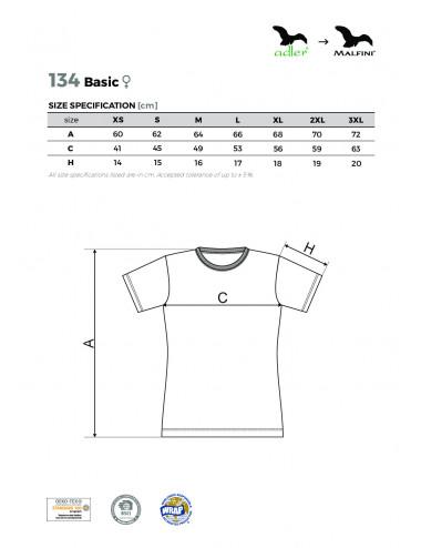 2Adler MALFINI Koszulka damska Basic 134 kawowy