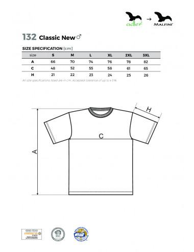 2Adler MALFINI Koszulka męska Classic New 132 żółty