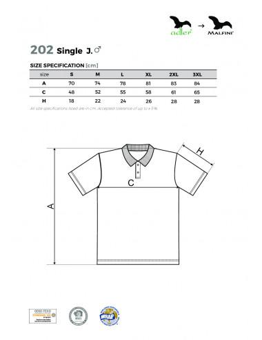 2Adler MALFINI Koszulka polo męska Single J. 202 ciemnoszary melanż