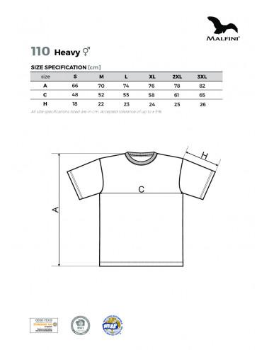 2Adler MALFINI Koszulka unisex Heavy 110 ebony gray