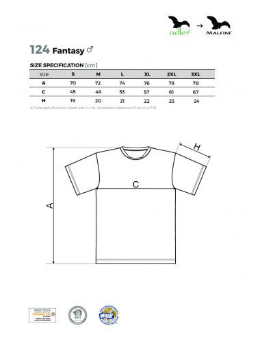 2Adler MALFINI Koszulka męska Fantasy 124 chabrowy