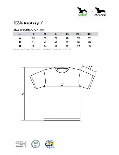 2Adler MALFINI Koszulka męska Fantasy 124 turkus