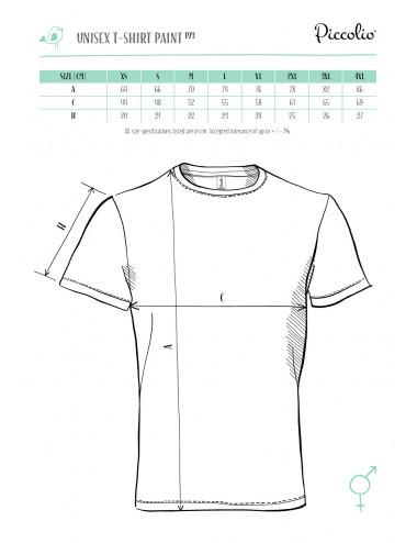 2Adler PICCOLIO Koszulka unisex Paint P73 lazurowy