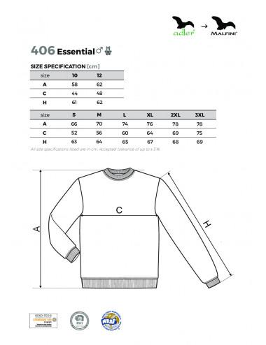 2Adler MALFINI Bluza męska/dziecięca Essential 406 biały