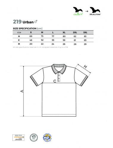 2Adler MALFINI Koszulka polo męska Urban 219 biały
