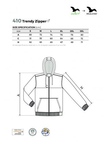 2Adler MALFINI Bluza męska Trendy Zipper 410 czerwony