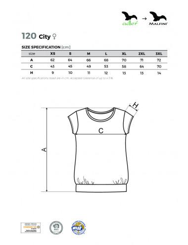 2Adler MALFINI Koszulka damska City 120 ciemnoszary melanż