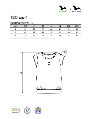 2Adler MALFINI Koszulka damska City 120 granatowy