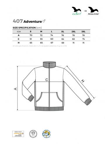 2Adler MALFINI Bluza męska Adventure 407 ciemnoszary melanż