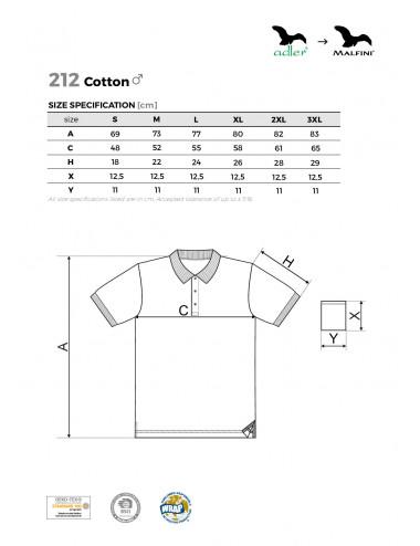 2Adler MALFINI Koszulka polo męska Cotton 212 chabrowy