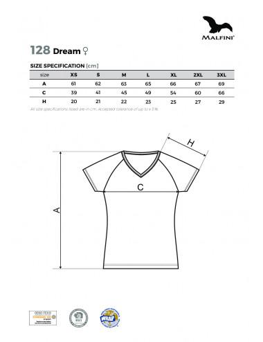 2Adler MALFINI Koszulka damska Dream 128 czarny