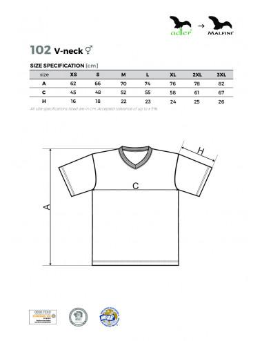 2Adler MALFINI Koszulka unisex V-neck 102 żółty