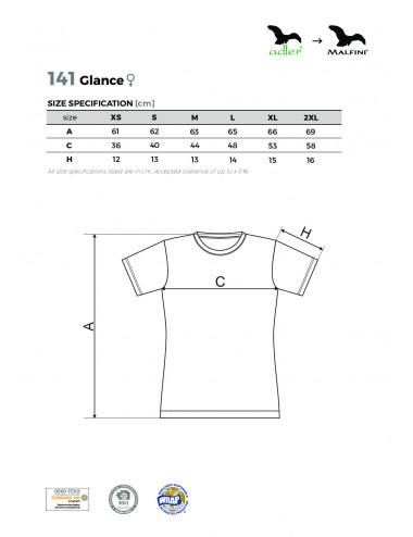 2Adler MALFINI Koszulka damska Glance 141 ciemnoszary melanż