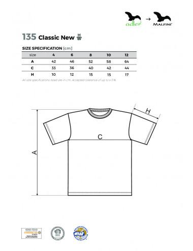 2Adler MALFINI Koszulka dziecięca Classic New 135 fioletowy