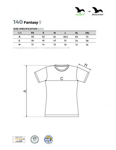 2Adler MALFINI Koszulka damska Fantasy 140 czarny