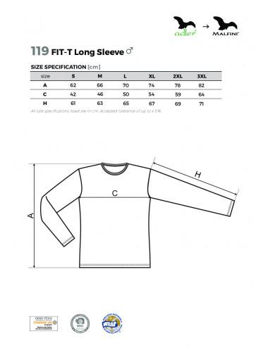 2Adler MALFINI Koszulka męska Fit-T Long Sleeve 119 chabrowy