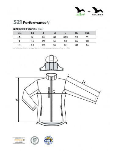 2Adler MALFINI Softshell kurtka damska Performance 521 granatowy